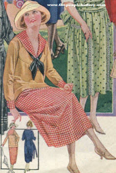 Gingham Middy and Skirt 1921