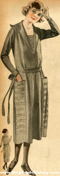 Broadcloth Dress 1922