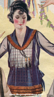 Silk Georgette Crepe Blouse 1922