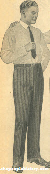 Cotton Worsted Trousers 1923