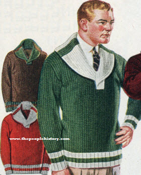 Shaker Knit Pull-Over 1923