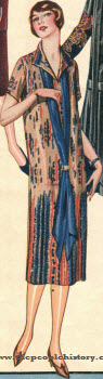 All Silk Printed Radium Dress 1924