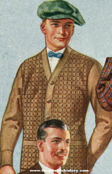 All Wool Novelty Check Front Sweater 1924