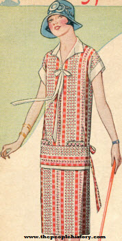 Imported Washable Broadcloth Dress 1924