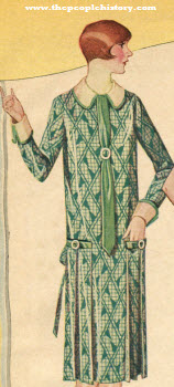 Novelty Printed Rayon Shantung Dress 1924