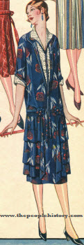 Printed Silk Warp Crepe Dress 1924