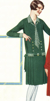 Flannel Velour Polkadot Dress 1928
