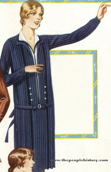 Pencil Stripe Dress 1928