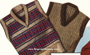 Sleeveless Wool Vests 1928
