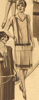 Border Striped Dress 1929