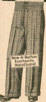 Everlastic Waist Trousers 1929