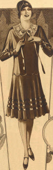 Flared Skirt Dress 1929