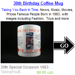 30th Birthday Born in 1983 Coffee Mug