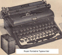 1945 Royal Portable Typewriter