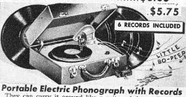 Vintage Portable Electric Phonograph