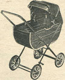 Happi-Time Doll Buggy From The 1950s