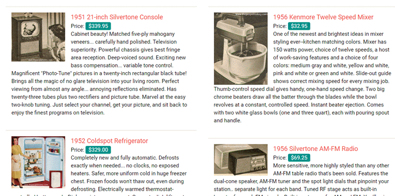 Home Appliances From The 1950's