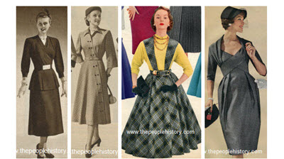 Clothes And Men S And Ladies Fashions In The 1950 S Prices