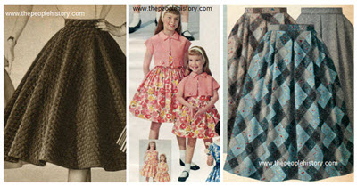 Ladies 1950s Fashion Skirts Examples