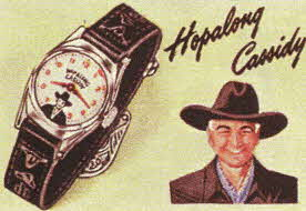 Hopalong Cassidy Wrist Watch From The 1950s