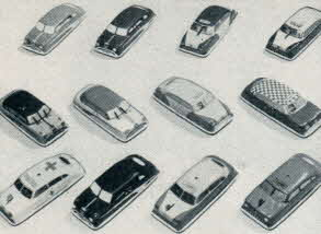 Fleet of Action Cars From The 1950s
