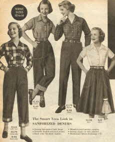 Teen Denim Fashions 1953