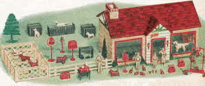 Pet Shop Set From The 1950s