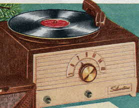 Radio Phonograph From The 1950s