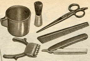 Barber Set From The 1950s