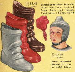 Space Boots and Helmet
