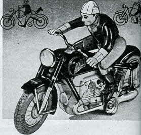 German Motorcycle Toy From The 1950s