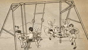 Carousel Gym Set From The 1950s