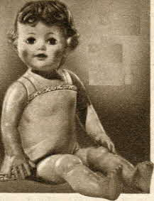 Life-Size Baby Doll From The 1950s