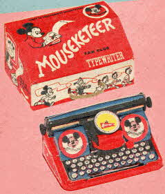 Mouseketeer Portable Typewriter From The 1950s