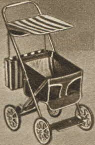 Musical Doll Stroller From The 1950s