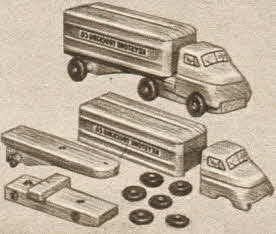 Snap Apart Truck Set From The 1950s