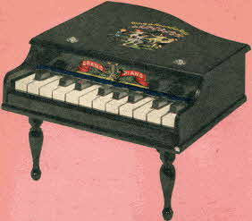 Toy Grand Piano From The 1950s