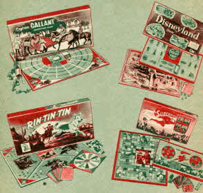Board Games by Transogram From The 1950s