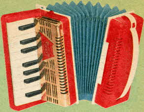 Golden Piano Accordion From The 1950s