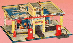Metal and Plastic Service Station From The 1950s