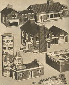 American Plastic Bricks From The 1950s