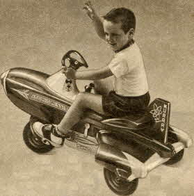 Atomic Missile Pedal Car From The 1950s
