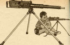 Electric Toy Machine Gun From The 1950s