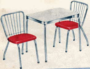 Play Dinette Set From The 1950s