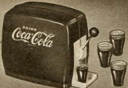 Toy Coca-Cola Dispenser From The 1950s