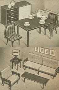 Ultra Modern Dining and Living Room Sets From The 1950s