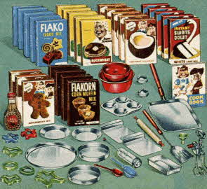 Food Mix Set From The 1950s