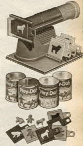 Plastic Molding Machine with Play-Doh From The 1950s