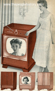 1955 Twenty-Four Inch Fringe TV Set