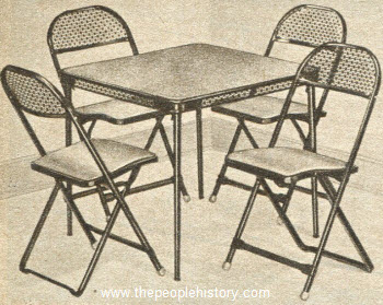 1954 Bridge Table Set